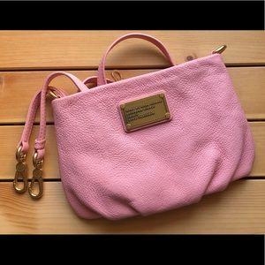 mbmj pink leather crossbody bag